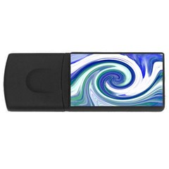 Abstract Waves 4GB USB Flash Drive (Rectangle) by Colorfulart23
