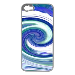 Abstract Waves Apple Iphone 5 Case (silver) by Colorfulart23
