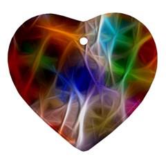 Fractal Fantasy Heart Ornament by StuffOrSomething