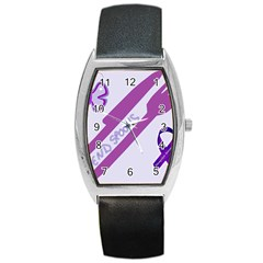 Send Spoons Tonneau Leather Watch by FunWithFibro