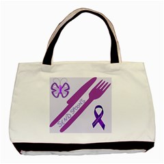 Send Spoons Twin Sided Black Tote Bag by FunWithFibro
