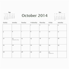 Mom By Michelle Loomis   Wall Calendar 11  X 8 5  (12 Months)   Xp3z64i2no8m   Www Artscow Com Oct 2014