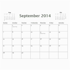 Mom By Michelle Loomis   Wall Calendar 11  X 8 5  (12 Months)   Xp3z64i2no8m   Www Artscow Com Sep 2014