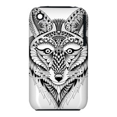 Ornate Foxy Wolf Apple Iphone 3g/3gs Hardshell Case (pc+silicone) by Zandiepants