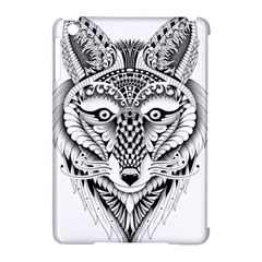 Ornate Foxy Wolf Apple Ipad Mini Hardshell Case (compatible With Smart Cover) by Zandiepants