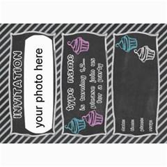 Birthday Invitation Card 7x5 By Zornitza   5  X 7  Photo Cards   Lj6a5xjk3ngj   Www Artscow Com 7 x5 Photo Card - 6
