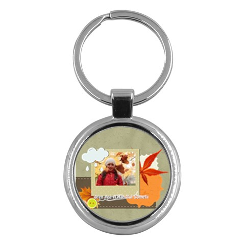 Kids By Kids   Key Chain (round)   59e8gk9t5x7q   Www Artscow Com Front