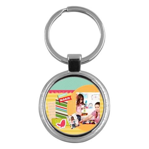 Kids By Kids   Key Chain (round)   Sa3u4uaou976   Www Artscow Com Front