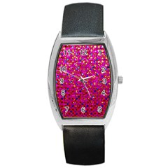 Polka Dot Sparkley Jewels 1 Tonneau Leather Watch by MedusArt