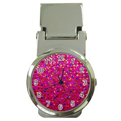 Polka Dot Sparkley Jewels 1 Money Clip With Watch by MedusArt