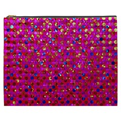 Polka Dot Sparkley Jewels 1 Cosmetic Bag (xxxl) by MedusArt