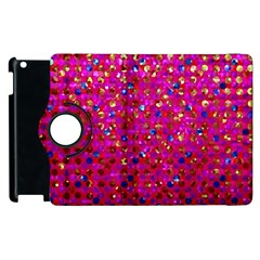Polka Dot Sparkley Jewels 1 Apple Ipad 2 Flip 360 Case by MedusArt
