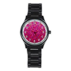 Polka Dot Sparkley Jewels 1 Sport Metal Watch (Black) by MedusArt