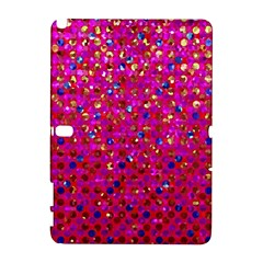 Polka Dot Sparkley Jewels 1 Samsung Galaxy Note 10 1 (p600) Hardshell Case by MedusArt