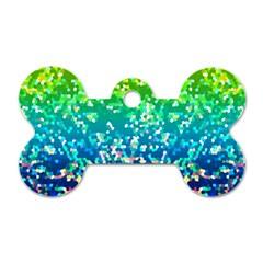 Glitter 4 Dog Tag Bone (two Sided) by MedusArt
