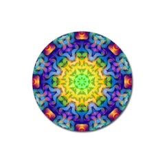 Psychedelic Abstract Magnet 3  (round) by Colorfulplayground