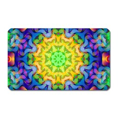Psychedelic Abstract Magnet (rectangular) by Colorfulplayground