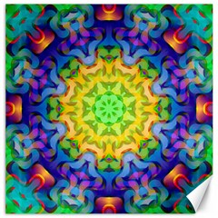 Psychedelic Abstract Canvas 12  X 12  (unframed) by Colorfulplayground