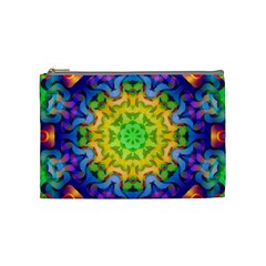Psychedelic Abstract Cosmetic Bag (medium) by Colorfulplayground