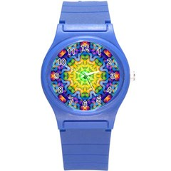 Psychedelic Abstract Plastic Sport Watch (small) by Colorfulplayground