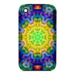 Psychedelic Abstract Apple Iphone 3g/3gs Hardshell Case (pc+silicone) by Colorfulplayground