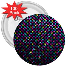 Polka Dot Sparkley Jewels 2 3  Button (100 Pack) by MedusArt