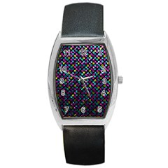 Polka Dot Sparkley Jewels 2 Tonneau Leather Watch by MedusArt