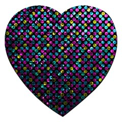 Polka Dot Sparkley Jewels 2 Jigsaw Puzzle (heart) by MedusArt