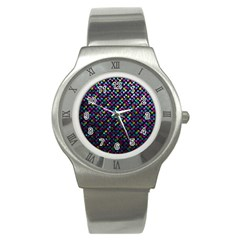 Polka Dot Sparkley Jewels 2 Stainless Steel Watch (slim) by MedusArt