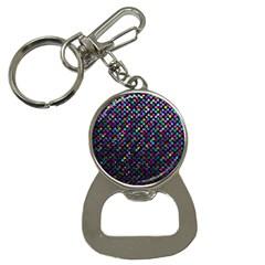 Polka Dot Sparkley Jewels 2 Bottle Opener Key Chain by MedusArt