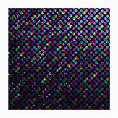 Polka Dot Sparkley Jewels 2 Glasses Cloth (medium, Two Sided) by MedusArt