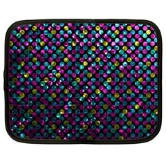 Polka Dot Sparkley Jewels 2 Netbook Sleeve (xxl) by MedusArt
