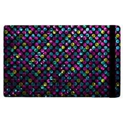 Polka Dot Sparkley Jewels 2 Apple Ipad 3/4 Flip Case by MedusArt