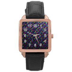 Polka Dot Sparkley Jewels 2 Rose Gold Leather Watch  by MedusArt