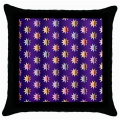 Flare Polka Dots Black Throw Pillow Case by Colorfulplayground