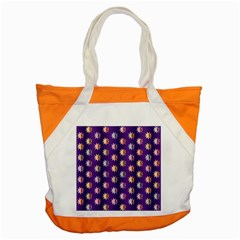 Flare Polka Dots Accent Tote Bag by Colorfulplayground