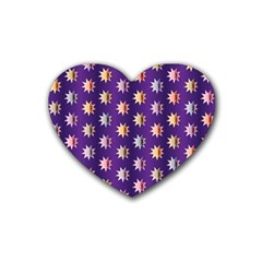 Flare Polka Dots Drink Coasters 4 Pack (heart)  by Colorfulplayground