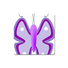 Cute Awareness Butterfly Magnet (square) by FunWithFibro