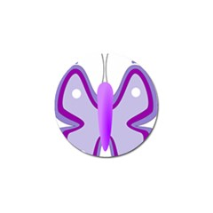 Cute Awareness Butterfly Golf Ball Marker by FunWithFibro