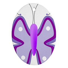 Cute Awareness Butterfly Oval Ornament (two Sides) by FunWithFibro