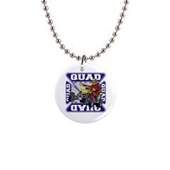 Quad Racer 1  Button Necklace by MegaSportsFan