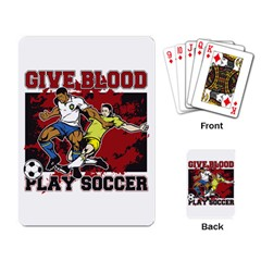 Sprint Car Do It In The Dirt Playing Cards Single Design by MegaSportsFan