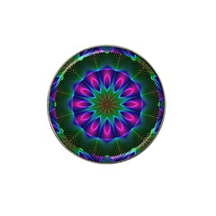 Star Of Leaves, Abstract Magenta Green Forest Golf Ball Marker 10 Pack (for Hat Clip) by DianeClancy