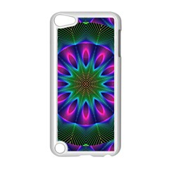 Star Of Leaves, Abstract Magenta Green Forest Apple Ipod Touch 5 Case (white) by DianeClancy