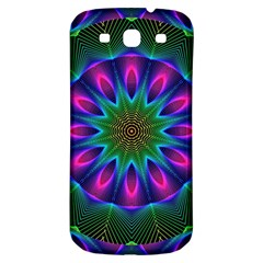 Star Of Leaves, Abstract Magenta Green Forest Samsung Galaxy S3 S Iii Classic Hardshell Back Case by DianeClancy