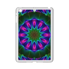 Star Of Leaves, Abstract Magenta Green Forest Apple Ipad Mini 2 Case (white) by DianeClancy