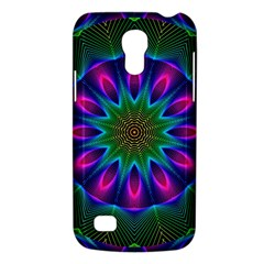 Star Of Leaves, Abstract Magenta Green Forest Samsung Galaxy S4 Mini (gt I9190) Hardshell Case  by DianeClancy