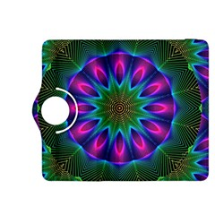 Star Of Leaves, Abstract Magenta Green Forest Kindle Fire Hdx 8 9  Flip 360 Case by DianeClancy