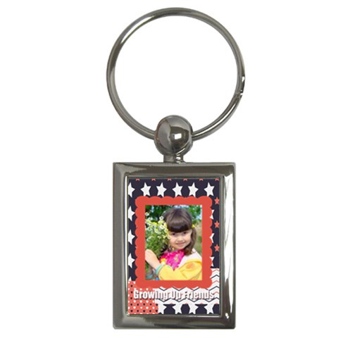 Kids By Kids   Key Chain (rectangle)   Y4hwv89q99mm   Www Artscow Com Front