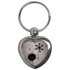 Evil Flower Bug Vintage Key Chain (heart) by CreaturesStore